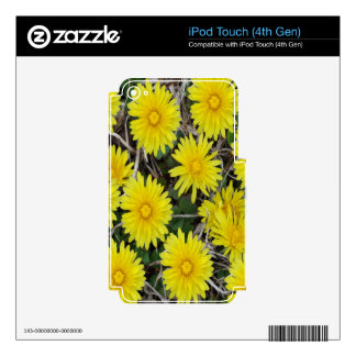 Yellow Wild Flowers Decals For iPod Touch 4G