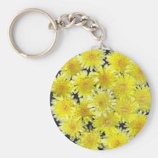 Yellow Wild Flowers Keychain