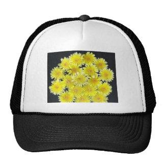 Yellow Wild Flowers Mesh Hat