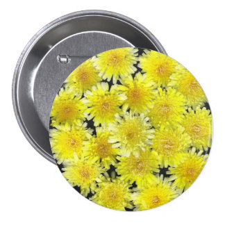 Yellow Wild Flowers Pinback Button