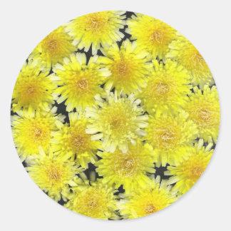 Yellow Wild Flowers Round Sticker