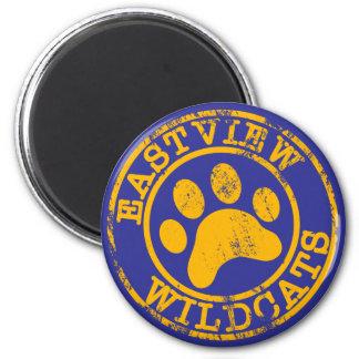 Yellow Wildcats Refrigerator Art Holder 2 Inch Round Magnet