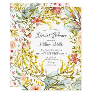 Yellow Wildflower Bridal Shower Invitation