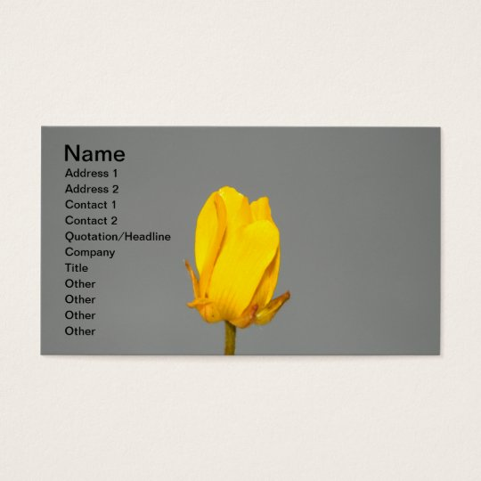 Yellow Wildflower Business Card