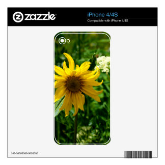 Yellow Wildflower Diva Decal For iPhone 4S