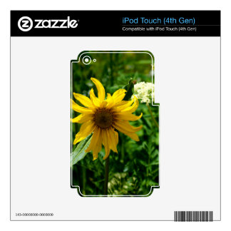 Yellow Wildflower Diva Decal For iPod Touch 4G
