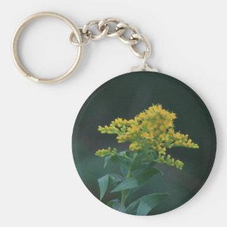 Yellow Wildflower Keychain