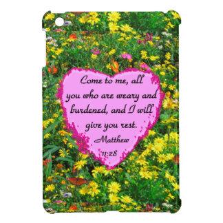 YELLOW WILDFLOWER MATTHEW 11:28 PHOTO DESIGN iPad MINI COVERS