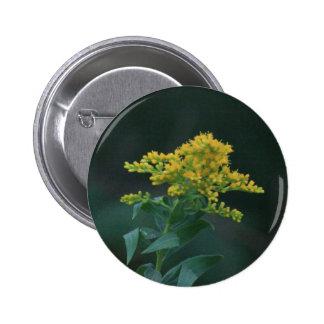 Yellow Wildflower Pinback Button
