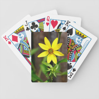 Yellow Wildflower Bicycle Playing Cards