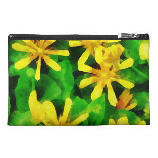 Yellow Wildflowers Travel Accessories Bag