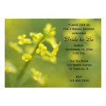 Yellow Wildflowers Bridal Shower Invitation