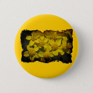 Yellow Wildflowers Button
