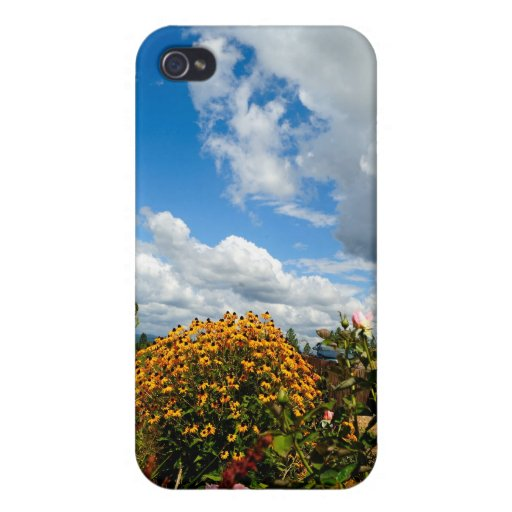 Yellow Wildflowers Case For iPhone 4
