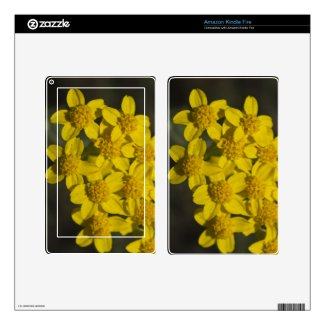 Yellow Wildflowers Decal For Kindle Fire
