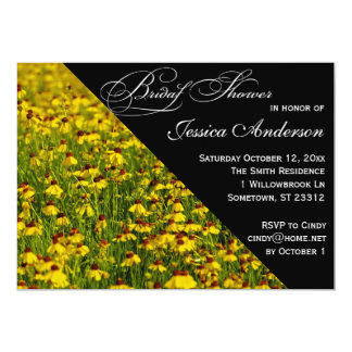 Yellow Wildflowers Field Photo Bridal Shower Card