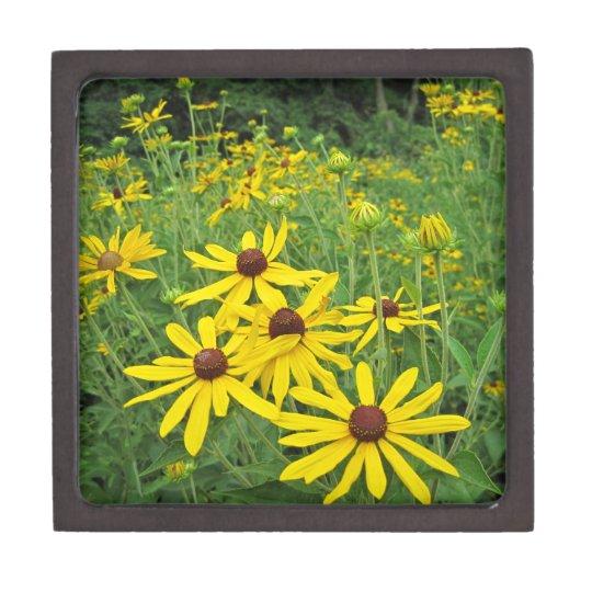 Yellow Wildflowers Keepsake Box