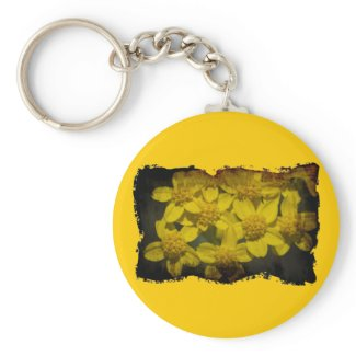 Yellow Wildflowers Key Chain