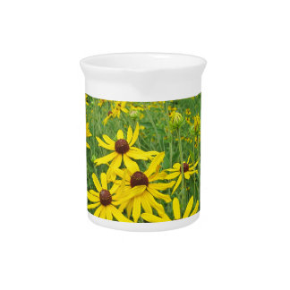 Yellow Wildflowers Drink Pitcher