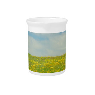 Yellow Wildflowers Drink Pitchers