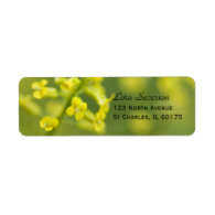 Yellow Wildflowers Return Address Label