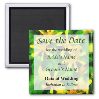 Yellow Wildflowers Save the Date Magnet