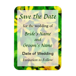 Yellow Wildflowers Save the Date Flexible Magnet