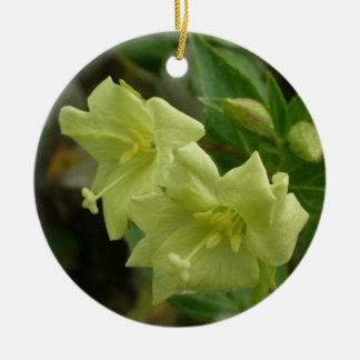 Yellow Willowherb, Epilobium luteum Ceramic Ornament