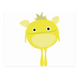 Yellow Winged Monster Post Card