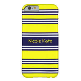 yellow with blue stripe barely there iPhone 6 case