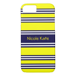 yellow with blue stripe iPhone 8/7 case