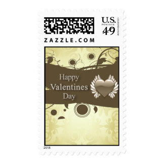 Yellow with Fairy Heart Valentine's Day Postage