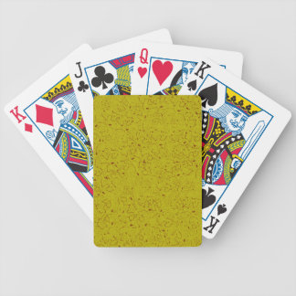 YELLOW WITH RUST SWIRLS BICYCLE POKER CARDS
