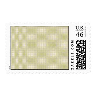 Yellow With Simple White Dots Postage Stamp