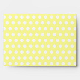Yellow with White Polka Dots Envelopes