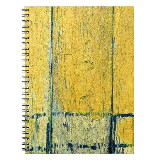 Yellow wood notebook