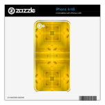 Yellow Wood Pattern Skins For iPhone 4
