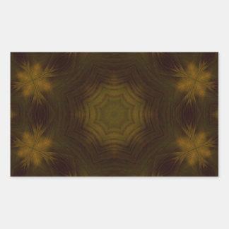 Yellow Wood Pattern Rectangular Sticker