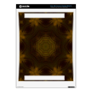 Yellow Wood Pattern Xbox 360 Console Decal
