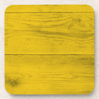 Yellow wood structure as a background texture coaster