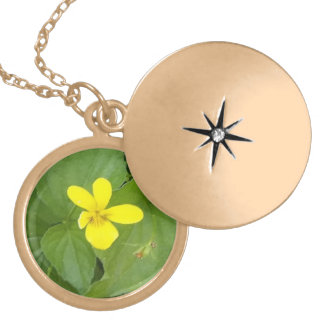 yellow wood violet necklace