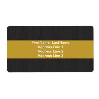 Yellow & Woodgrain Professional Shipping labels