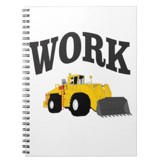 yellow work loader spiral notebook