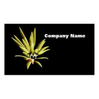 Yellow Worried Bird Cartoon Business Card
