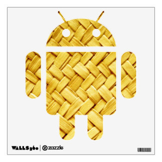 Yellow woven straw texture wall skins
