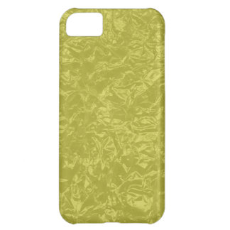 yellow wrinkled foil iPhone 5C cover