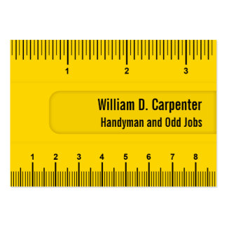 Yellow Yardstick Ruler Tradesman and Builder Large Business Cards (Pack Of 100)