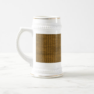 yellow yarn textured beer stein