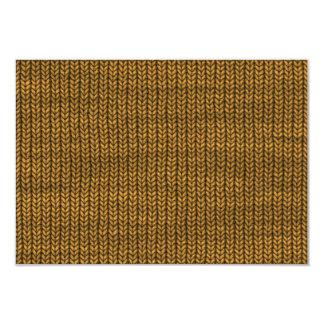 yellow yarn textured card