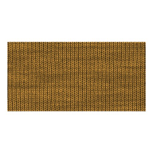 yellow yarn textured picture card